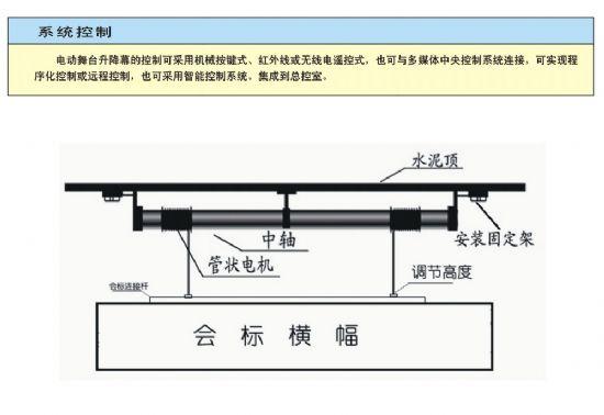 供应电动升降横幅 投影幕电动升降杆