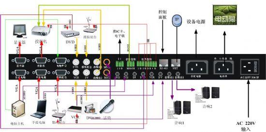 电子刷卡电度表强电接线电路图