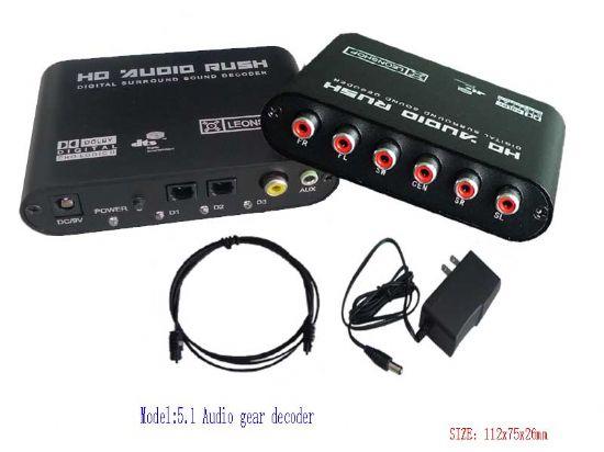 dts/ac-3音频解码器,光纤同轴转5.